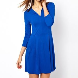 French Connection Royal Blue 3/4 Sleeve Dress